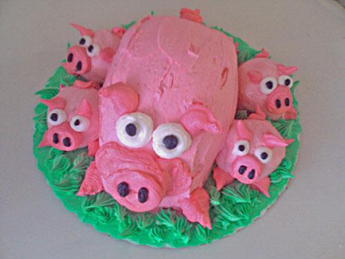 Village Bakery Knoxville Custom 3d Little Pigs Cake