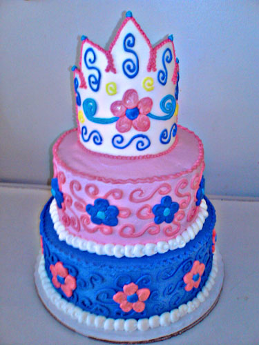 Village Bakery Knoxville Custom 3d Tiered Crown Birthday Cake