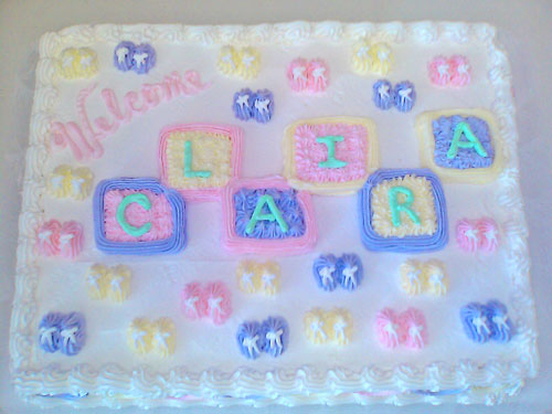Village Bakery Knoxville Welcome Baby Cake