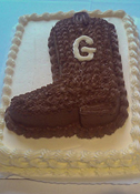 Textured Cowboy Boot Initialed
