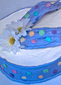 Smooth Buttercream Flip-Flop 3D Cake