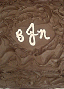 Textured Grooms Cake Initialed